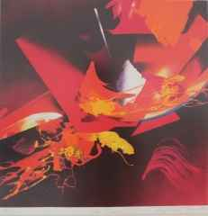 Güngör Taner <br/> 'Ateş Dansı' 53x52 cm, Taş Baskı 85/100, 1997