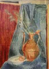 Münip Özben <br/>'İbrikli Natürmort', 70x50 cm, TÜYB, 1975