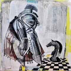 Erhan Lanpir - At Terbiyecisi - 20x20 cm