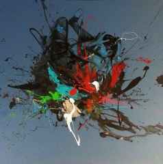 145x145 cm - öfke ve melankoli - Tuvale Akrilik 2015