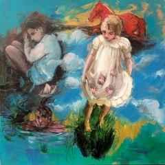 Peruze Hamurcu - İsimsiz, 70x70 cm, Tuvale yağlı boya, 2017