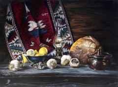 Hüseyin Feyzullah - Işığın Ruhu-1 -90x120 cm, Tuvale yağlı boya, 2017