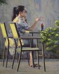 Fatih Karakaş, 'Cafe-II', 50x40 cm, TÜYB, 2016