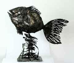 Balık - 93x74x26 cm - Metal