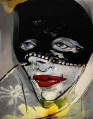 'Maskeli Kadın'<br />61x48 cm, Hahnemühle KÜKT, 2015
