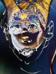 'Maskeli Genç'<br />60x47 cm, Hahnemühle KÜKT, 2014
