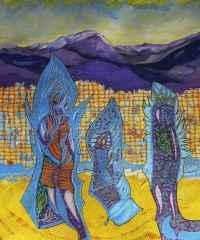 Üç Totem - 40x30 cm, TÜAB