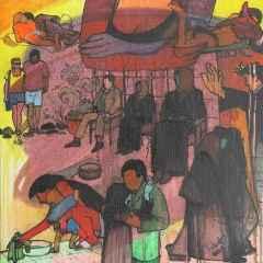 'Görücüler', 40x40 cm, TÜYB, 2001