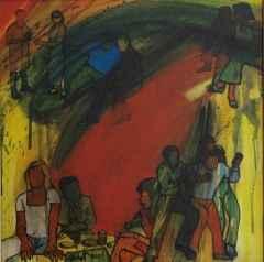 'Bir Yaşam Kesiti', 40x40 cm, TÜYB, 2001