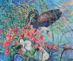 'Kuğular / The Swans'<br />100x120 cm, TÜYB, 2015