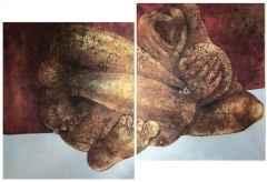 'Korku-II', 120x200 cm(Diptik), TÜKT, 2012