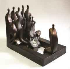 """Kemal Uludağ - 30x40x28 cm - Stoneware-1200°C - 2013 - """"Dinlet-İçi"""""""