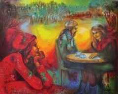 Filiz Pelit - 120x150 cm - TÜYB - 2014 - Düşlerinle Büyü-Café-I