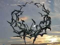 'Özgürlüğe Dair II' Paslanmaz çelik, 67x60x32 cm