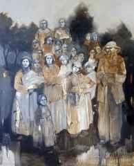 'Gazel', 150x120 cm, Tuvale Yağlıboya