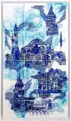 İstanbul 2, 132x75 cm, Çini Duvar Panosu, 2016