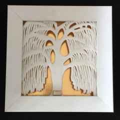 Salkım Söğüt-II, 24,5x24,5x4,5 cm, Dökümle ve Elle Şekillendirme, 1200 °C, 2017