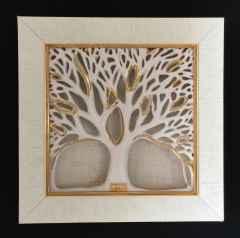 Çınar Ağacı-III, 25,5x25,5x3.5cm, Döküm ve Elle Şekillendirme, 1100°C, 2017