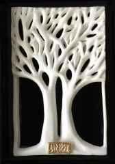 İkili Ağaç-III, 29,5x15x6 cm, Porselen, Dökümle ve Elle Şekillendirme, 1200 °C, 2017