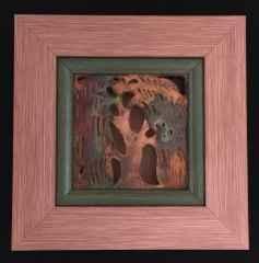 Bahar Serisi-II, 20,5x20,5x4cm, Döküm ve Elle Şekillendirme, Bakır Matı Redüksiyon, 1000°C, 2017