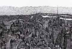 'New York', 20x30 cm, Kağıt Üzerine Rapido Kalem, 2015