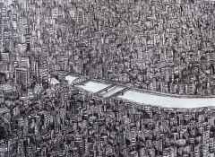 'Tokyo', 25x33 cm, Kağıt Üzerine Rapido Kalem, 2015