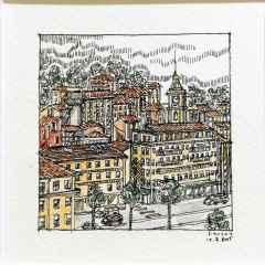 'Fransa', 5.5x6 cm, Kağıt Üzerine Suluboya, 2015