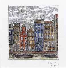 'Amsterdam', 5.5x6 cm, Kağıt Üzerine Suluboya, 2015