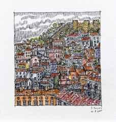'Lizbon', 5.5x6 cm, Kağıt Üzerine Suluboya, 2015
