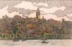 'İstanbul', 18x24 cm, Kağıt Üzerine Suluboya, 2015