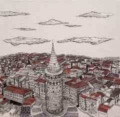 40x40 cm, Tuvale Karışık Teknik,  2018