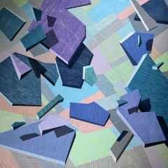 İnorganik Manzara, 150x150 cm, Tuvale akrilik, 2017
