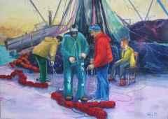 'Balıkçılar'<br />102x145, TÜYB, 2015