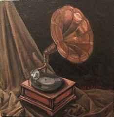 Devrim Demiral – 'Gramofon', 25x25 cm, TÜYB, 2015