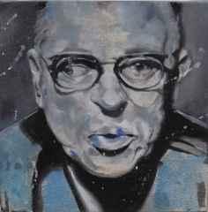 Çiğdem Doğan – 'Jean-Paul Sartre', 25x25 cm, TÜAB, 2015