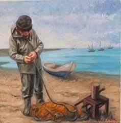 Devrim Demiral – 'Balıkçı', 25x25 cm, TÜYB, 2015