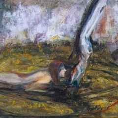 Nilay Sayrav – 'Kıyıda', 25x25 cm, TÜYB, 2015