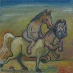 Sait Oktay – 'çiftbaşlılık', 25x25 cm, TÜYB, 2015