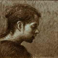 Sertap Yeğin - 'portre', 25x25 cm, KÜKT, 2016