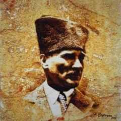 Hasan Çağlayan - 'Atatürk', 25x25 cm, TÜKT, 2016