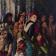 Hatice Berrak Çiçe - 'Dedikodu', 25x25 cm, TÜYB, 2016