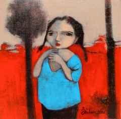 Özden Gezer Yarımca - 25x25 cm, TÜYB, 2016