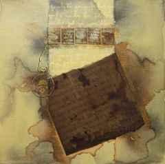 Akife Dekeli - 'Geçmiş zaman mektubu', 25x25 cm, TÜKT