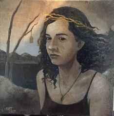 Sami Kurt - 'Özgür', 25x25 cm, TÜYB, 2017