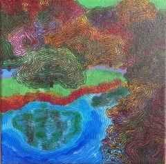 Burcu Sevim Gölgeli - 25x25 cm, TÜYB, 2017