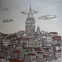 Sümeyye Yuşan - 'Istanbul', 25x25 cm, TÜKT, 2017