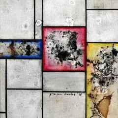 Gizem Sevinç - Mondrian-Tableau - 25x25 cm - TÜYB - 2018
