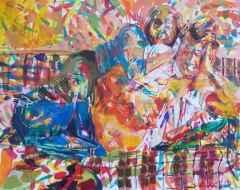 100x125 cm - TÜAB - 2005 - Kanepede iki kişi