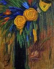 41x33 cm - TÜYB -  2005 - Benim Çiçeklerim-12
