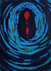 81x65 cm - TÜYB - 2012 - Mavi Üzerine Notlar